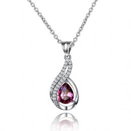 Rainbow kamień wisiorek 3.5ct Mystic kolorowe Rainbow ogień Topaz 925 Sterling Silver wisiorek naszyjnik dla kobiet w porządku b