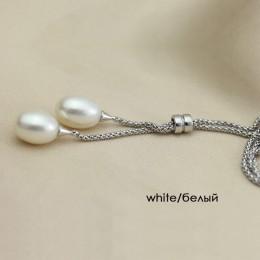 Ze srebra 925 słodkowodnych perła wisiorek naszyjnik kobiety, moda naturalne perły wisiorki biżuteria żona mama prezent urodzino