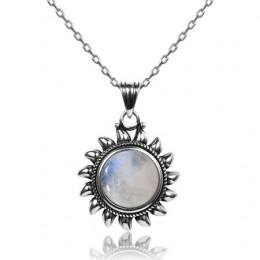 Oryginalny Design słońce wisiorki naszyjniki 925 Sterling silver biżuteria naszyjnik dla kobiet mężczyzn popularne dzieła Party
