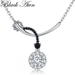 Romantyczny przyjeżdża 925 Sterling Silver Fine Jewelry Trendy okrągły zaręczyny naszyjniki i wisiorki dla kobiet K027