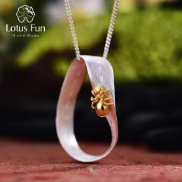 Lotus zabawy majątek 925 Sterling Silver ręcznie grzywny biżuteria kreatywny ciężko pracujących Ant projekt wisiorek bez naszyjn