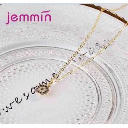 Jemmin cena fabryczna 2 kolory kobiety kobieta okrągły naszyjnik biżuteria 925 Sterling srebrny naszyjnik z pełnym AAA Cubic cyr