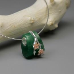Lotus zabawy majątek 925 Sterling Silver naturalne awenturyn kamień kreatywny elegancka biżuteria w stylu vintage kwiat śliwy wi