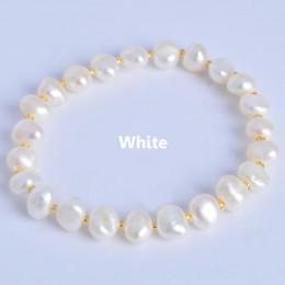 ASHIQI prawdziwe naturalne słodkowodne barokowe bransoletki z pereł i Bangles dla kobiet kryształ koraliki biżuteria prezent