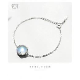 Thaya Aurora damskie bransoletki s925 srebrny Gradient kryształ magiczne bransoletka kobiece proste eleganckie delicje przyjaźń