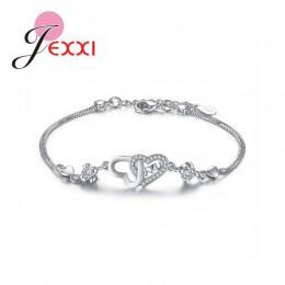 Biżuteria damska srebrny łańcuszek bransoletka na nadgarstek na rękę damska ozdobna klasyczna