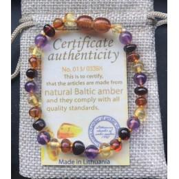 Yoowei naturalnego bursztynu ząbkowanie bransoletki obrączki 4.7-8.7 ''Handmade oryginalna biżuteria bursztyn bałtycki koraliki