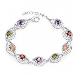 Jemmin dość kolorowe Multi kolory bransoletki 925 Sterling Silver z Extender kobieta bransoletka damska bransoletka biżuteria To