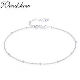 Czysta prawdziwe 925 Sterling Silver mały cienki koraliki łańcuszek bransoletka dla kobiet dziewczyny przyjaciel biżuteria pulse