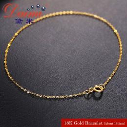 DAIMI czystego złota bransoletka łańcuch 18 K żółte złoto łańcuch łańcuch świetlny złota bransoletka