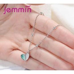 Jemmin wisiorek w kształcie serca bransoletka biżuteria 925 Sterling Silver Charm marki słodkie projekt dla kobiet w porządku bi