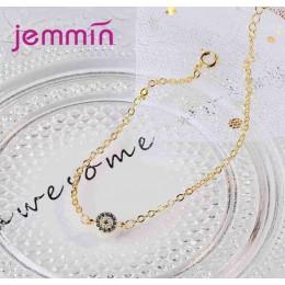 Jemmin cena fabryczna 2 kolory kobiety dziewczyny proste styl biżuteria prezent 925 Sterling Silver bransoletka z wysokiej jakoś