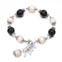 DAIMI modny naturalny bransoletki z pereł regulowane dla pani lato w stylu