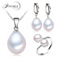 Prawdziwa perła słodkowodna biżuteria zestaw kobiet, naturalne perły zestawy 925 sterling silver biżuteria dziewczyna urodziny z