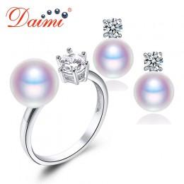 DAIMI naturalne fioletowy różowy biały czarny kolczyki z pereł pierścień zestawy, naturalne perły zestawy, Party biżuteria zesta