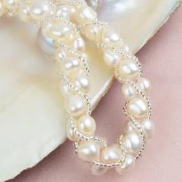 ASHIQI prawdziwe naturalna perła słodkowodna ręcznie zestawy biżuterii i więcej 4 kolory naszyjnik kolczyki bransoletka dla kobi