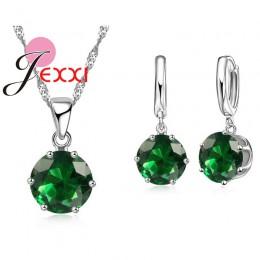 Jemmin 17 kolor promocje 925 Sterling Silver CZ naszyjnik obroża naszyjnik kryształ rocznica biżuteria ślubna zestawy