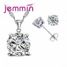 Jemmin kobiety moda biżuteria ustawia 925 srebro wesela/zaręczyny naszyjnik wisiorek zestaw kolczyków darmowa wysyłka