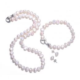 DAIMI perła baroku zestawy 8-9mm słodkowodne perły biżuteria zestawy dla kobiet Party biżuteria zapięciem w kształcie serca może