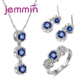 Jemmin wielka promocja! Wykwintne mody piękne zestawy biżuterii z najwyższej jakości sześciennych cyrkon dla kobiet cenny prezen