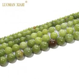 AAA 100% naturalne okrągły chiński koraliki jadeitowe kamień koraliki do tworzenia biżuterii bransoletka Zrób To Sam naszyjnik 4