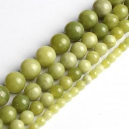 Naturalne chiny koraliki jadeitowe okrągły luźne koraliki do tworzenia biżuterii 6 8 10mm Pick rozmiar 15 cali naszyjnik DIY (zi