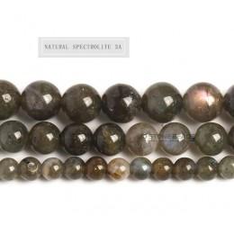 Prawdziwa natura szary kamień księżycowy koraliki labradoryt klasy 7A 6A 5A 4A 3A 2A pół wykończone na kamieni akcesoria dla two