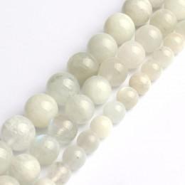 Wybierz rozmiar 6mm8mm10mm naturalny niebieski kamień księżycowy koraliki okrągłe luźne koraliki darmowa wysyłka biżuteria Ornam
