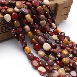 Kamień naturalny koraliki 8-10mm nieregularne Mookaite Jasper kamień koraliki do wyrób biżuterii bransoletka naszyjnik 15 cali