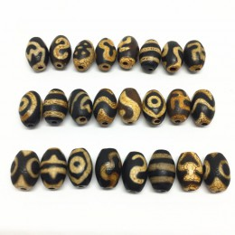 20 sztuk/partii akcesoria z kamienia naturalnego koraliki tybetański Dzi koraliki 8mm * 12mm do wyrobu diy biżuteria darmowa wys