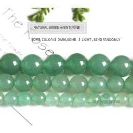 """Kamień naturalny zielony awenturyn światła kolor okrągły luźne koraliki akcesoria 15 """"Strand 4 6 8 10 12 14 MM pick rozmiar do t"""