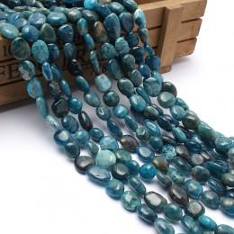 Kamień naturalny koraliki 8-10mm nieregularne niebieski apatyt kamień koraliki do wyrób biżuterii bransoletka naszyjnik 15 cali
