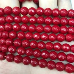 """Kamień naturalny wysokiej jakości szlifowane koral czerwony okrągły Dayed kolor kamień koraliki 15 """"Strand 6/8/10 MM dla kobiet"""