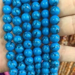 Zoptymalizowany pod kątem światła niebieski turkus kamień koraliki okrągłe luźne koralik z kamienia szlachetnego 6/8/10mm dla br