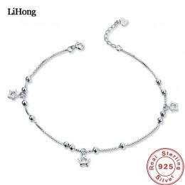 Biżuteria damska srebrny łańcuszek bransoletka na kostkę na nogę damska ozdobna klasyczna