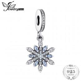 Jewelrypalace 925 Sterling Silver Froast kwiat stworzył niebieski Nano dynda koraliki Charms Fit bransoletki moda unikalne DIY b