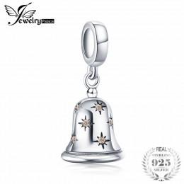 JewelryPalace boże narodzenie dzwonek sześciennych cyrkon 925 Sterling Silver paciorki dla kobiet 2018 nowa gorąca sprzedaż pięk