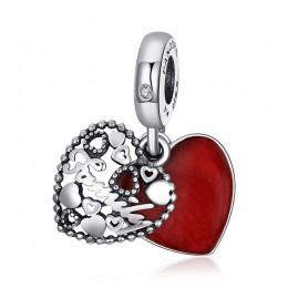 Jewelrypalace 925 Sterling Silver tajne podziw Red emalia koraliki Charms Fit bransoletki prezenty dla niej moda biżuteria preze