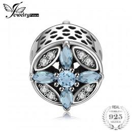 Jewelrypalace 925 Sterling Silver kryształ gwiazda koraliki Charms Fit bransoletki prezenty dla kobiet prezenty na rocznicę moda