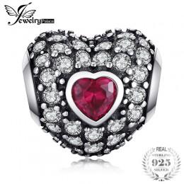 Jewelrypalace 925 Sterling Silver odważny ducha purpurowe serce koraliki Charms Fit bransoletki prezenty dla niej rocznica biżut