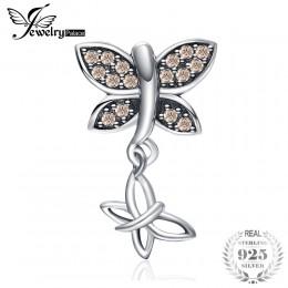 JewelryPalace 925 Sterling Silver szampana cyrkonia motyl koraliki charm w stylu fit bransoletki nowa gorąca sprzedaż dla swojeg