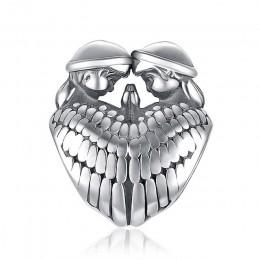 JewelryPalace 925 Sterling Silver anioł stróż skrzydło serce Trendy biżuteria urok dla matki i córki gorąca sprzedaż piękny prez