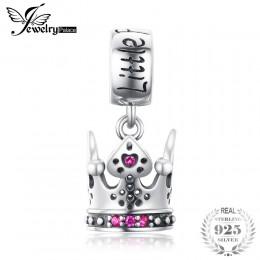 JewelryPalace księżniczka korona utworzono Ruby 925 Sterling Silver paciorki 2018 New Hot sprzedaż piękny prezent Fine Jewelry d