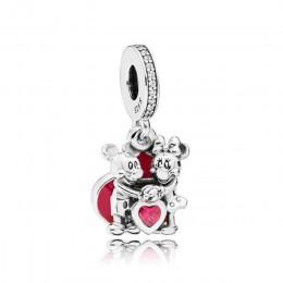 FAHMI 100% 925 Sterling srebrny urok z miłość wiszące urok wisiorek DIY wszystkie bransoletki oryginalna biżuteria 797769CZR