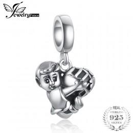 JewelryPalace 925 srebro chłopiec z piłki nożnej uścisk miłość urok dla kobiet/Mothe/córka nowa gorąca sprzedaż piękne trendyGif