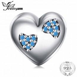 Jewelrypalace koraliki Charms Fit bransoletki kobiety DIY 925 Sterling Silver więcej serca koraliki biżuteria moda dziewczyny ko