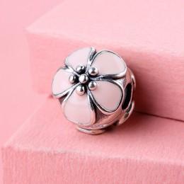 Fine jewelry 925-sterling-silver biżuteria klip Charms miłość serce srebrne koraliki Fit europejskie bransoletki DIY akcesoria