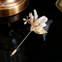 GLSEEVO naturalne wody słodkiej perła baroku broszka dla kobiet Party piękne Broche broszki Du Luxe Femme Bijoux biżuteria GO033