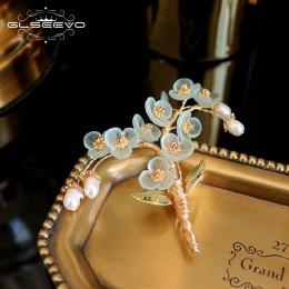 GLSEEVO naturalne perły żywica kwiat ręcznie robione drzewo broszka dla kobiet Party piękne Broche broszki Femme Bijoux biżuteri