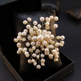 GLSEEVO naturalne wody słodkiej perła baroku płatek śniegu broszki dla kobiet Party ślubne szpilki i broszki luksusowa biżuteria